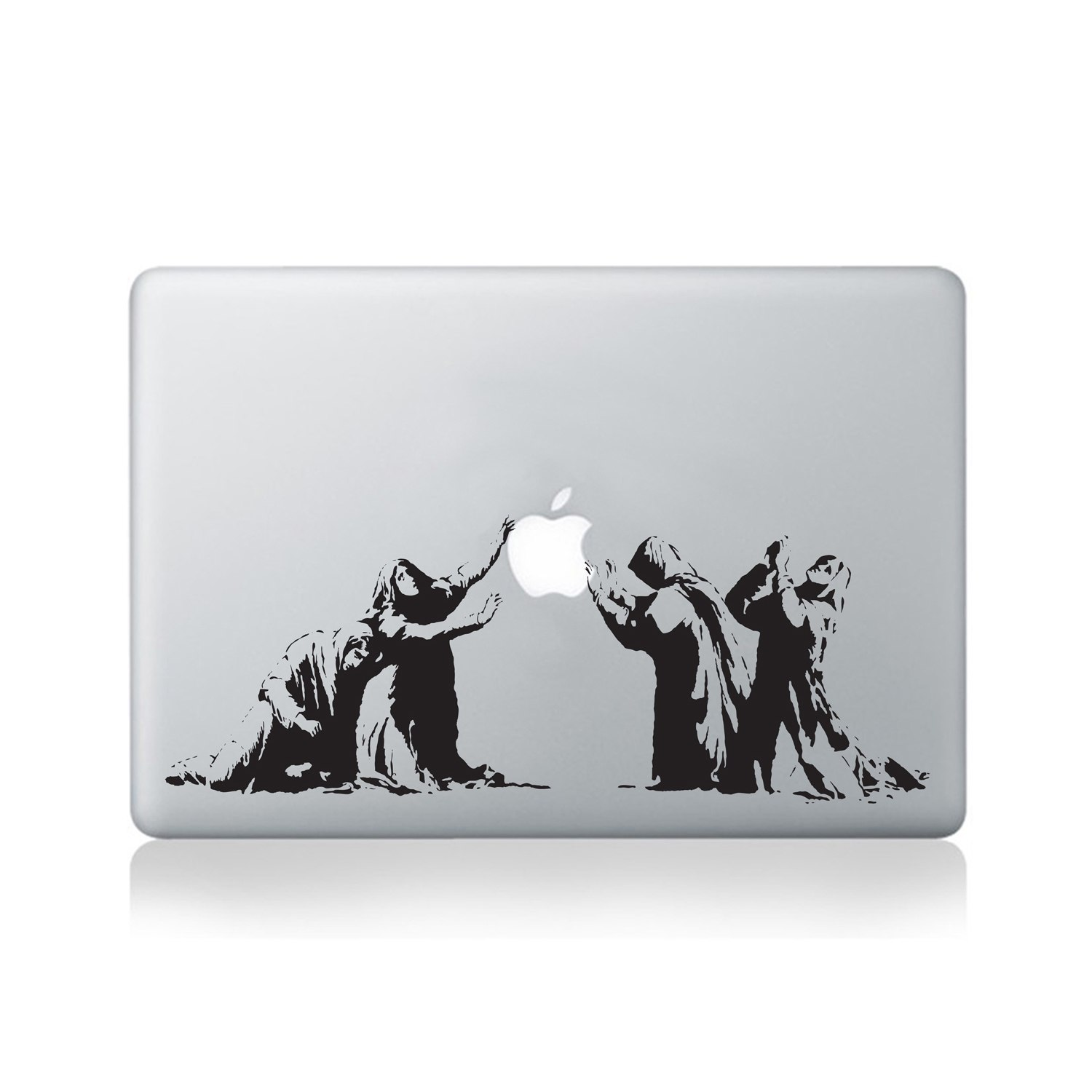 Writing Wall Art Stickers Banksy Apple Reverence Vinyl Sticker For Macbook 13 15