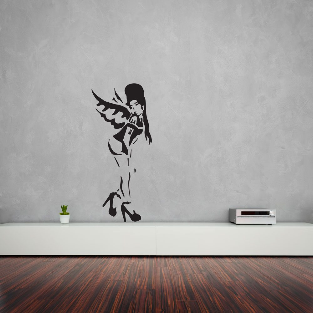 banksy amy winehouse vinyl wall art decal vinyl revolution. Black Bedroom Furniture Sets. Home Design Ideas
