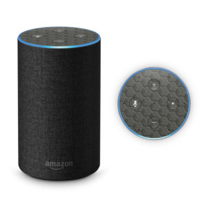 Dark Wood Geometric Parquet Amazon Echo 2017 Skin