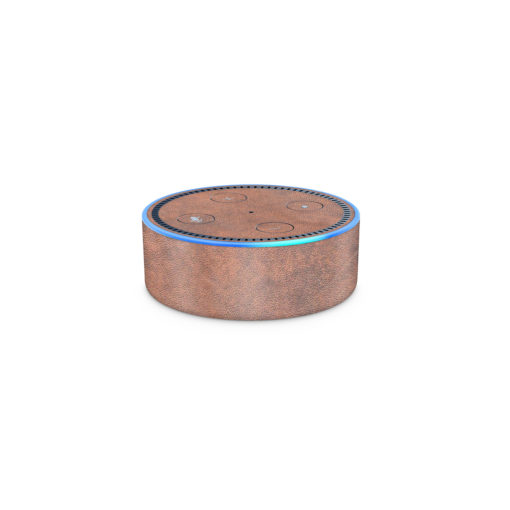 Tan Leather Amazon Echo Dot (2nd Generation) Skin