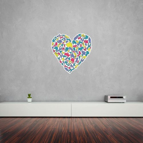 Animal Heart Wall Art