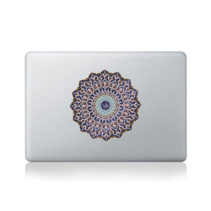 arabic mandala macbook sticker