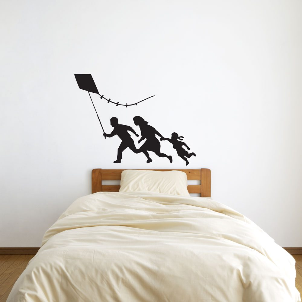 Banksy Family With Kite Vinyl Wall Art Decal For Home Decor