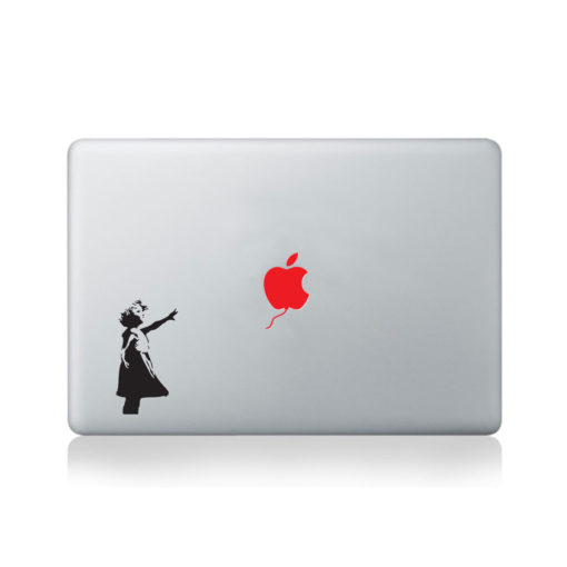 Banksy Little Girl Red Balloon Macbook Decal