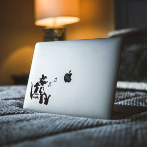 Banksy Rat Hip Hop Head Macbook Decal