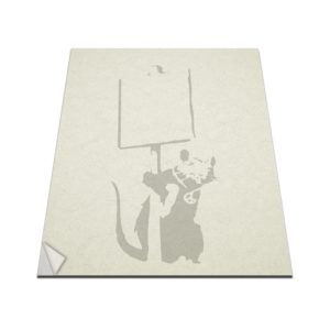 banksy rat sign macbook decal