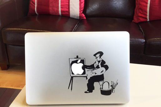 vinyl banksy macbook sticker