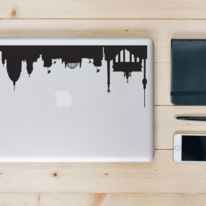 Berlin City Skyline Macbook Decal