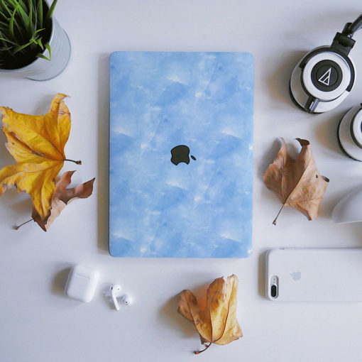 Blue Watercolour Macbook Skin