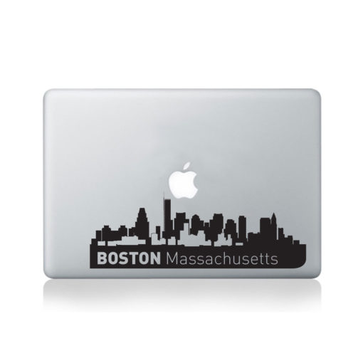 Boston City Skyline Macbook Decal