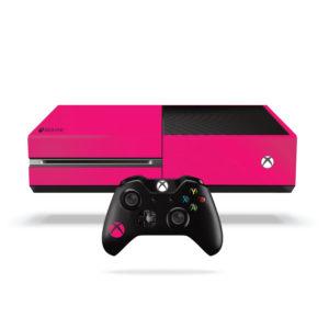 Bright Pink Xbox One Vinyl Wrap