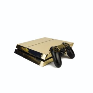 Chrome Gold PS4 Vinyl Wrap