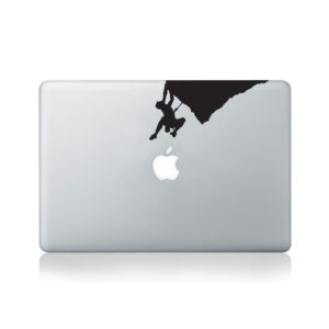 Climber On Overhang Macbook Decal