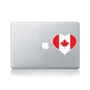 I Love Canada Macbook Sticker