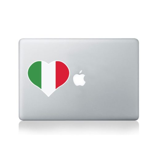 I Love Italy Macbook Sticker