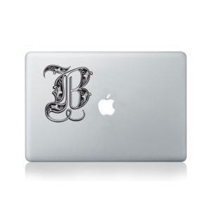 Illuminated Royal Letter B Macbook Decal