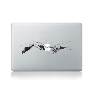Michelangelo The Creation of Adam Macbook Decal