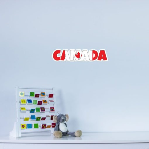 Canada Country Name As Flag Wall Art