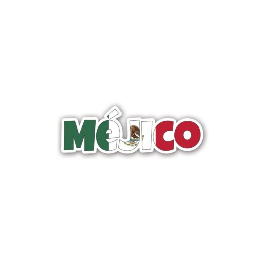 Mejico Country Name As Flag Wall Art