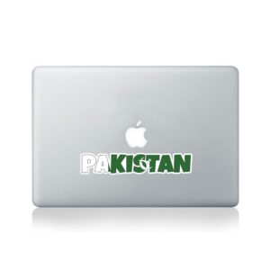 Pakistan Country Name As Flag Macbook Sticker