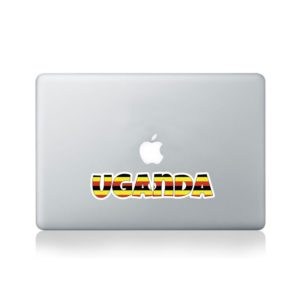 Uganda Country Name As Flag Macbook Sticker