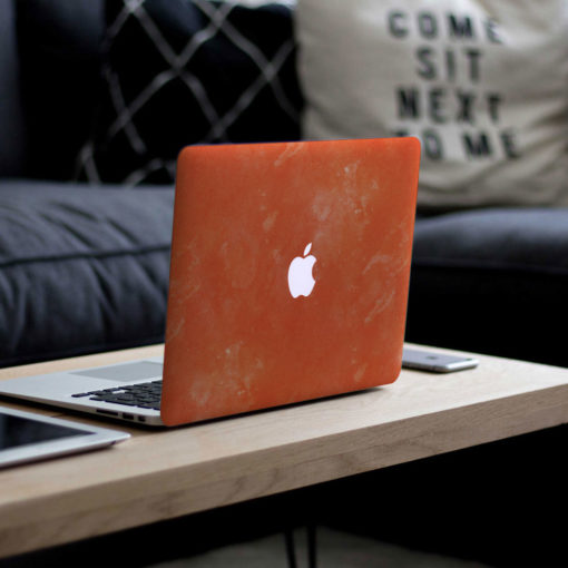 Orange Watercolour Macbook Skin
