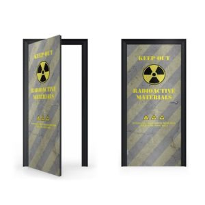 radioactive doorwrap door sticker