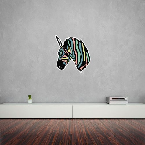 Rainbow Zebra Unicorn Wall Art