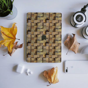Raised Stone Blocks Macbook Skin