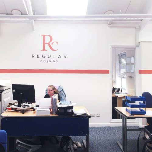 regular cleaning uk office branding