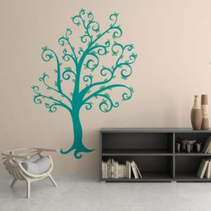 Swirly Tree Wall Art