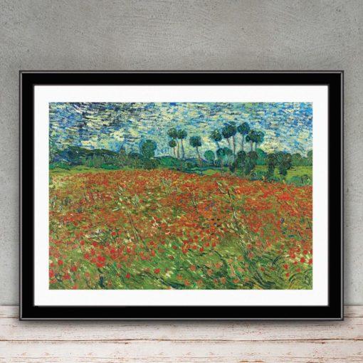 "Vincent Van Gogh ""Poppy Field"" (1890) Giclee Print"