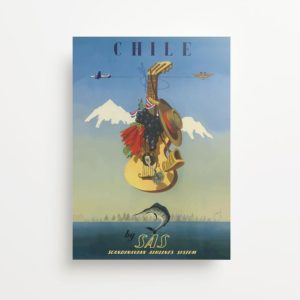 """""""Chile"""" Vintage Travel Ad Giclee Print"""