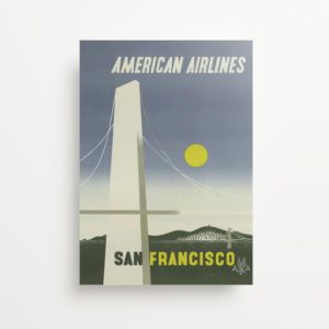 """San Francisco California"" Vintage Travel Ad Giclee Print"
